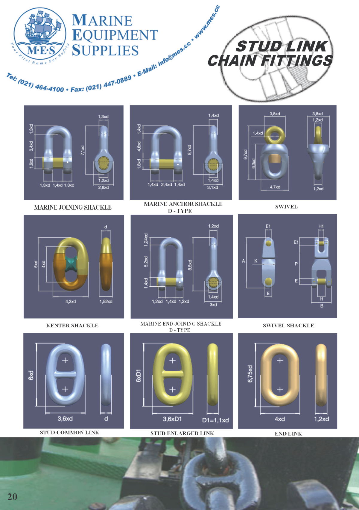 Marine Stud Link Fittings
