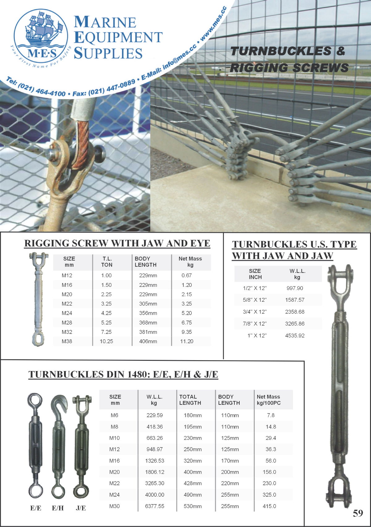 Marine Turnbuckles & Rigging Screws