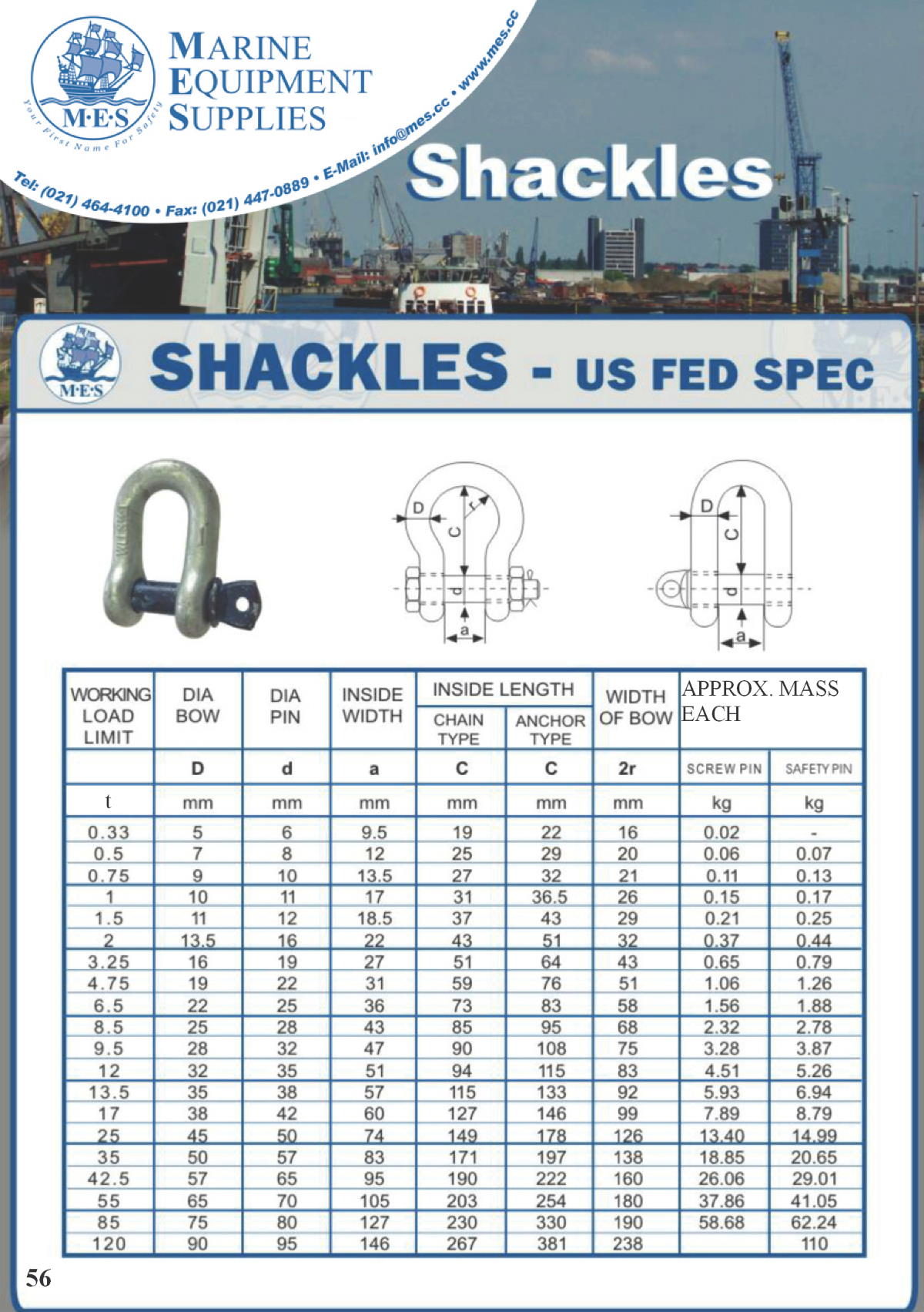 Marine Shackles