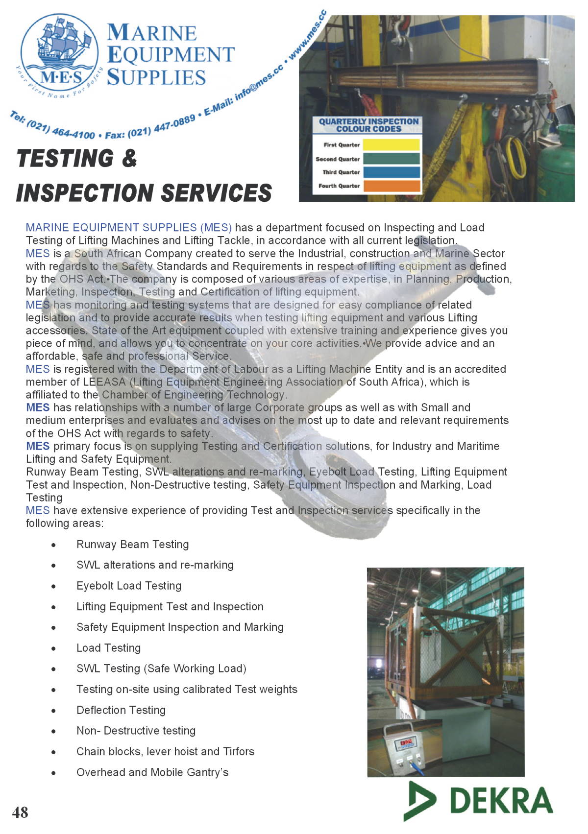 Marine Testing & Inspection Services